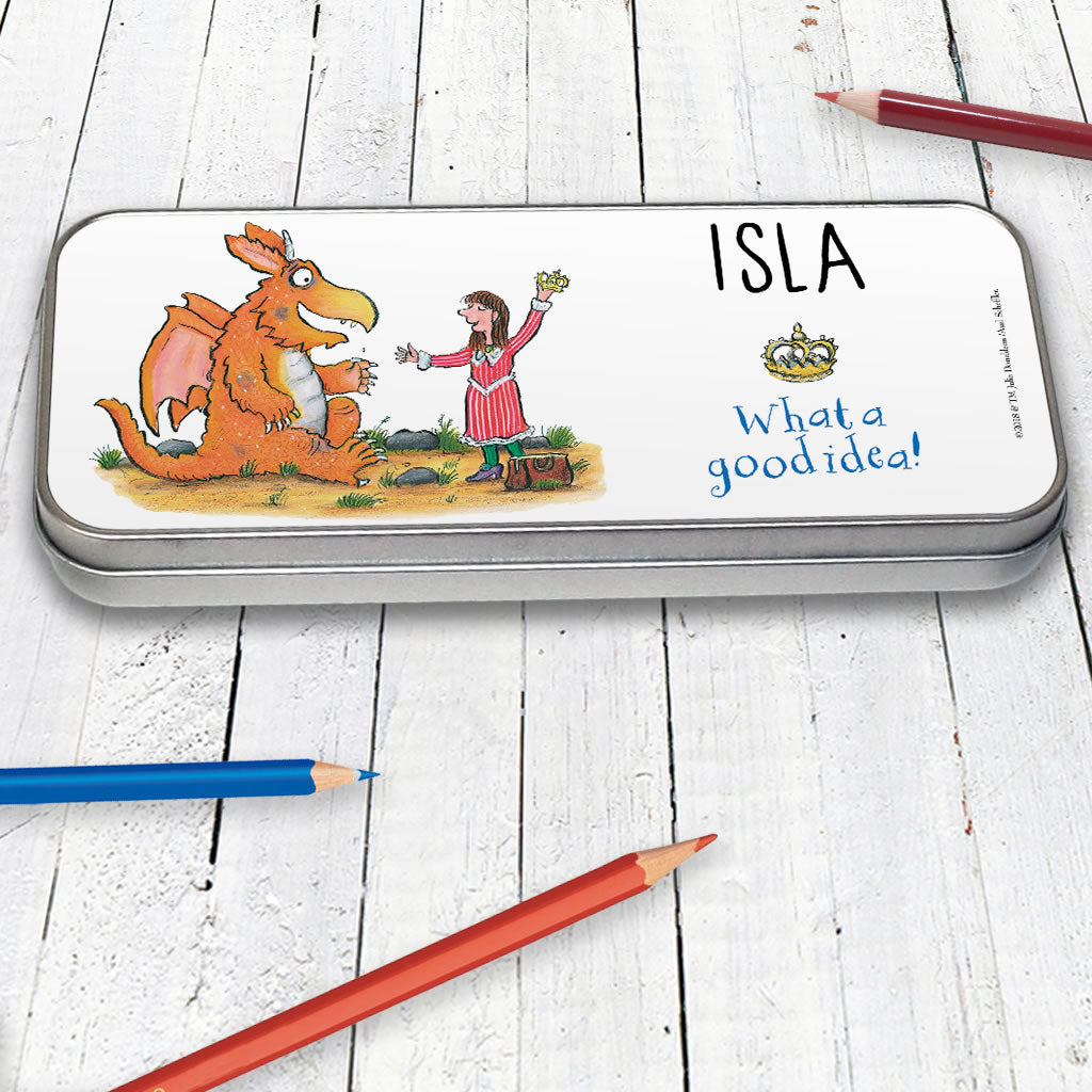 """He tried his hardest everyday"" Zog Personalised Pencil Tin (Lifestyle)"