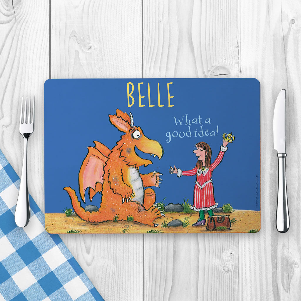 """Bravo"" Zog Personalised Placemat (Lifestyle)"