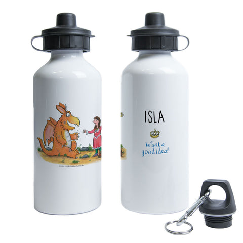 Gold Star Zog Personalised Water Bottle