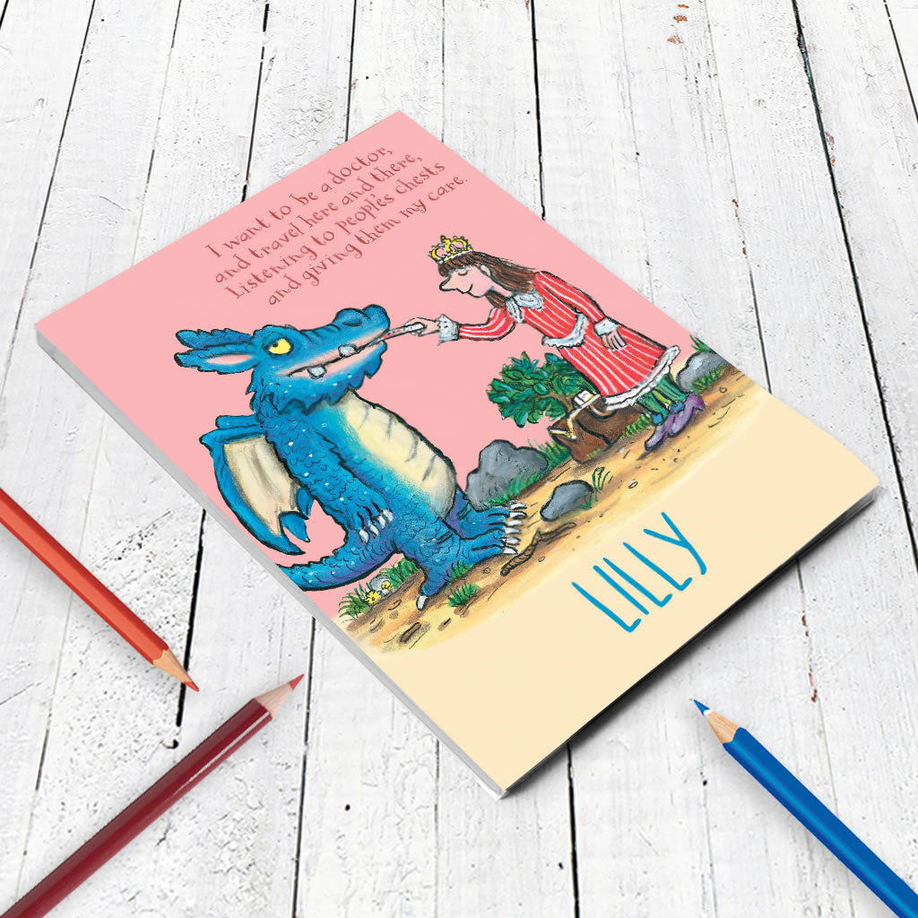 """I want to be a Doctor"" Zog Personalised A5 Notepad (Lifestyle)"