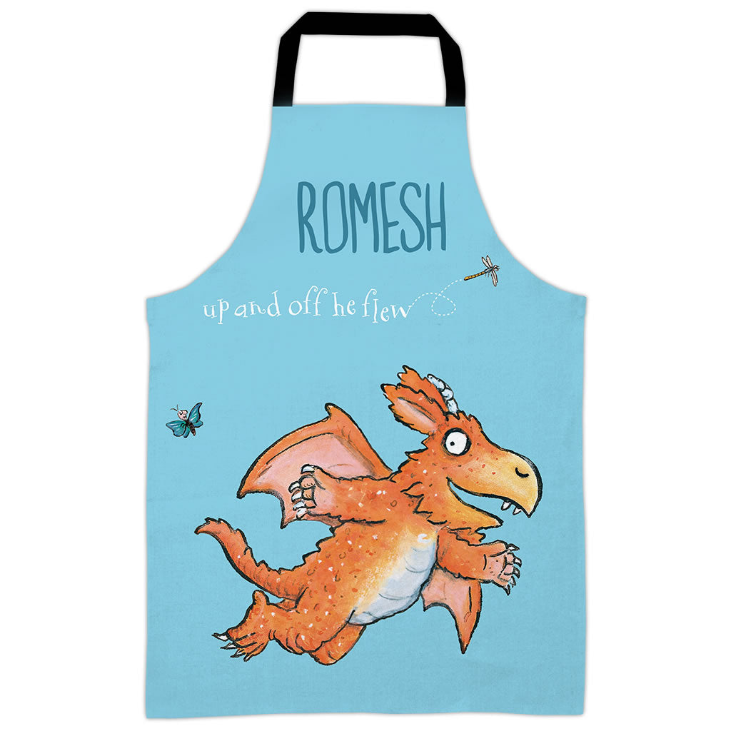 Blue Off He Flew Zog Personalised Apron