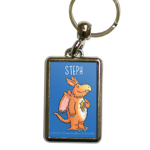 Blue Zog Personalised Metal Keyring