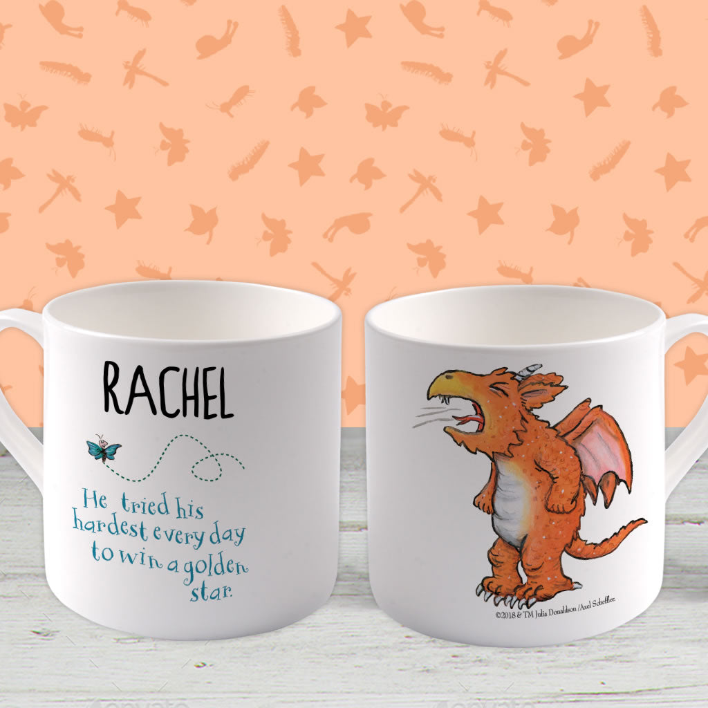"""He tried his hardest"" Zog Personalised Large Bone China Mug (Lifestyle)"