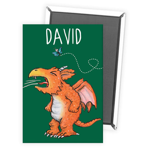 Green Zog Personalised Magnet