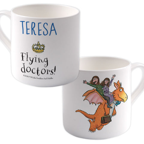 Flying Doctors! Zog Personalised Large Bone China Mug