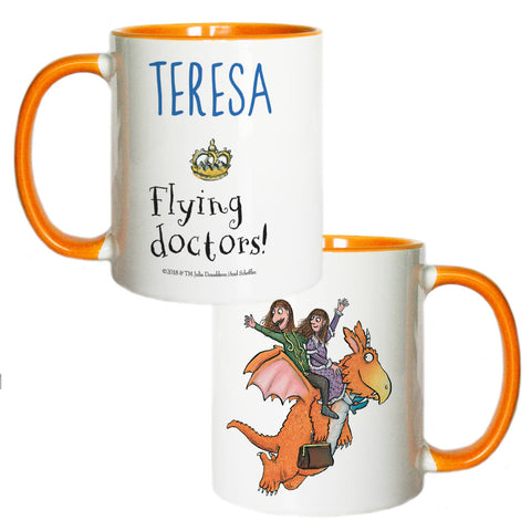 Flying Doctors! Zog Personalised Coloured Insert Mug