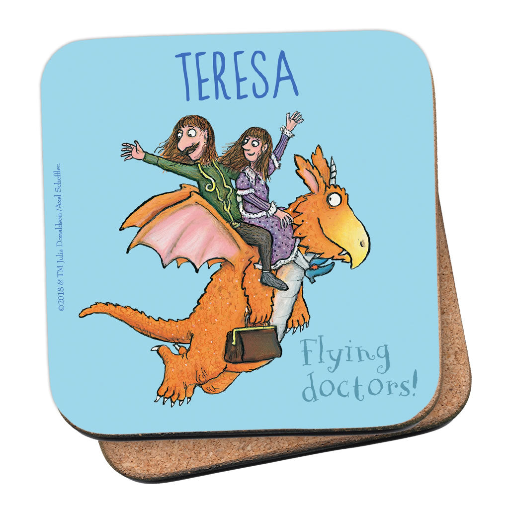 Flying Doctors! Zog Personalised Coaster