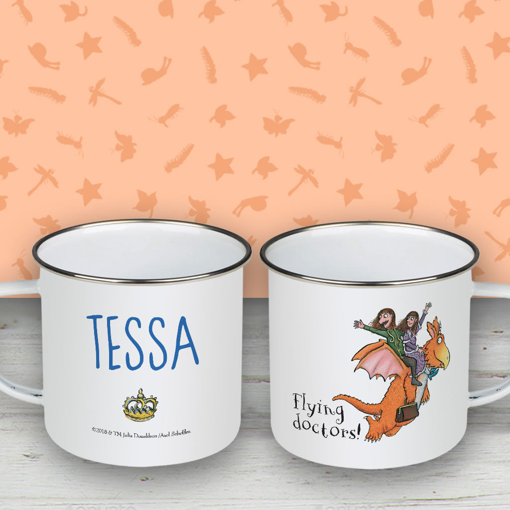 Flying Doctors! Zog Personalised Enamel Mug (Lifestyle)