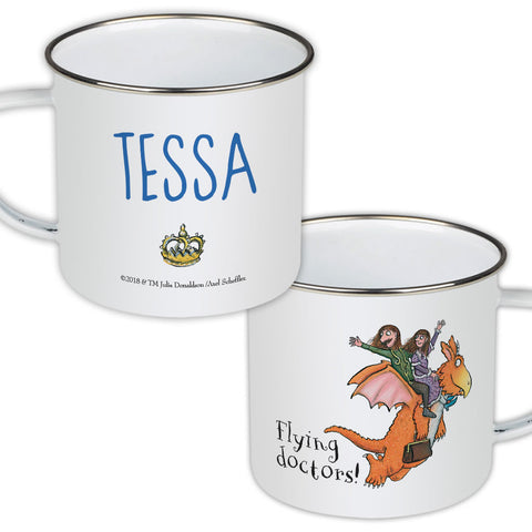 Flying Doctors! Zog Personalised Enamel Mug