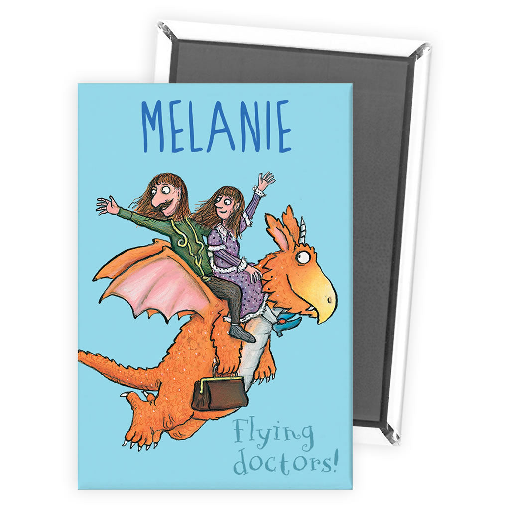 Flying Doctors! Zog Personalised Magnet