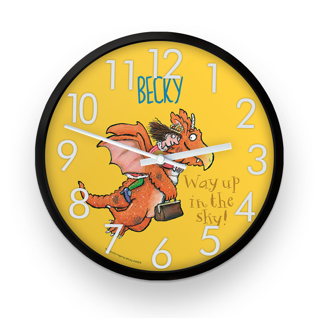 """Way up in the sky"" Zog Personalised Clock"