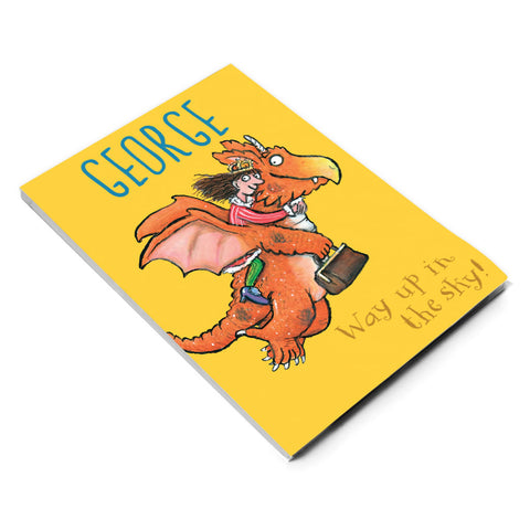 """Way up in the sky!"" Zog Personalised A5 Notepad"