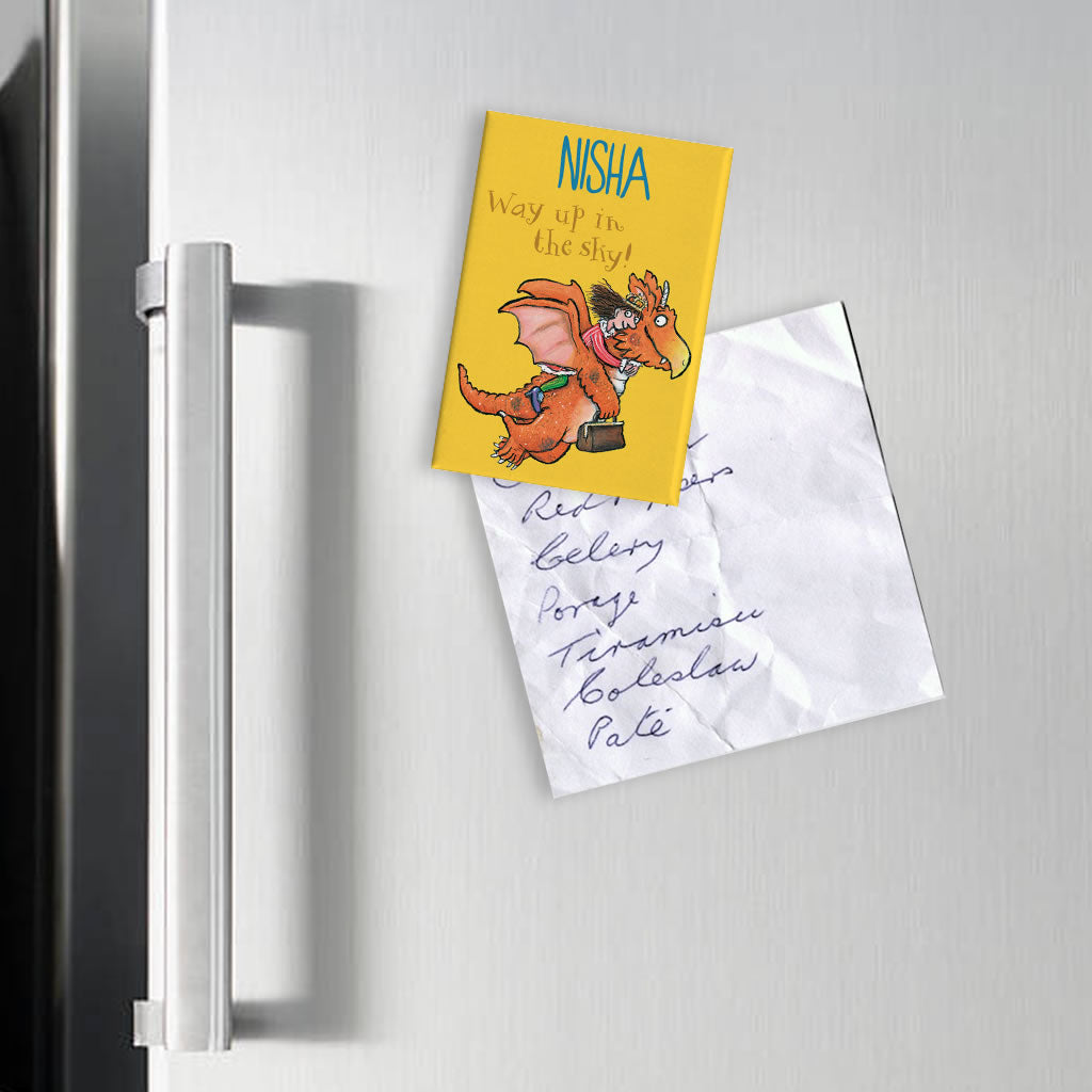 """Way up in the Sky!"" Zog Personalised Magnet (Lifestyle)"