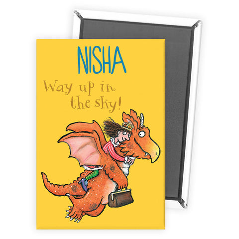 """Way up in the Sky!"" Zog Personalised Magnet"