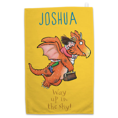 """What a good idea!"" Zog Personalised Tea Towel"