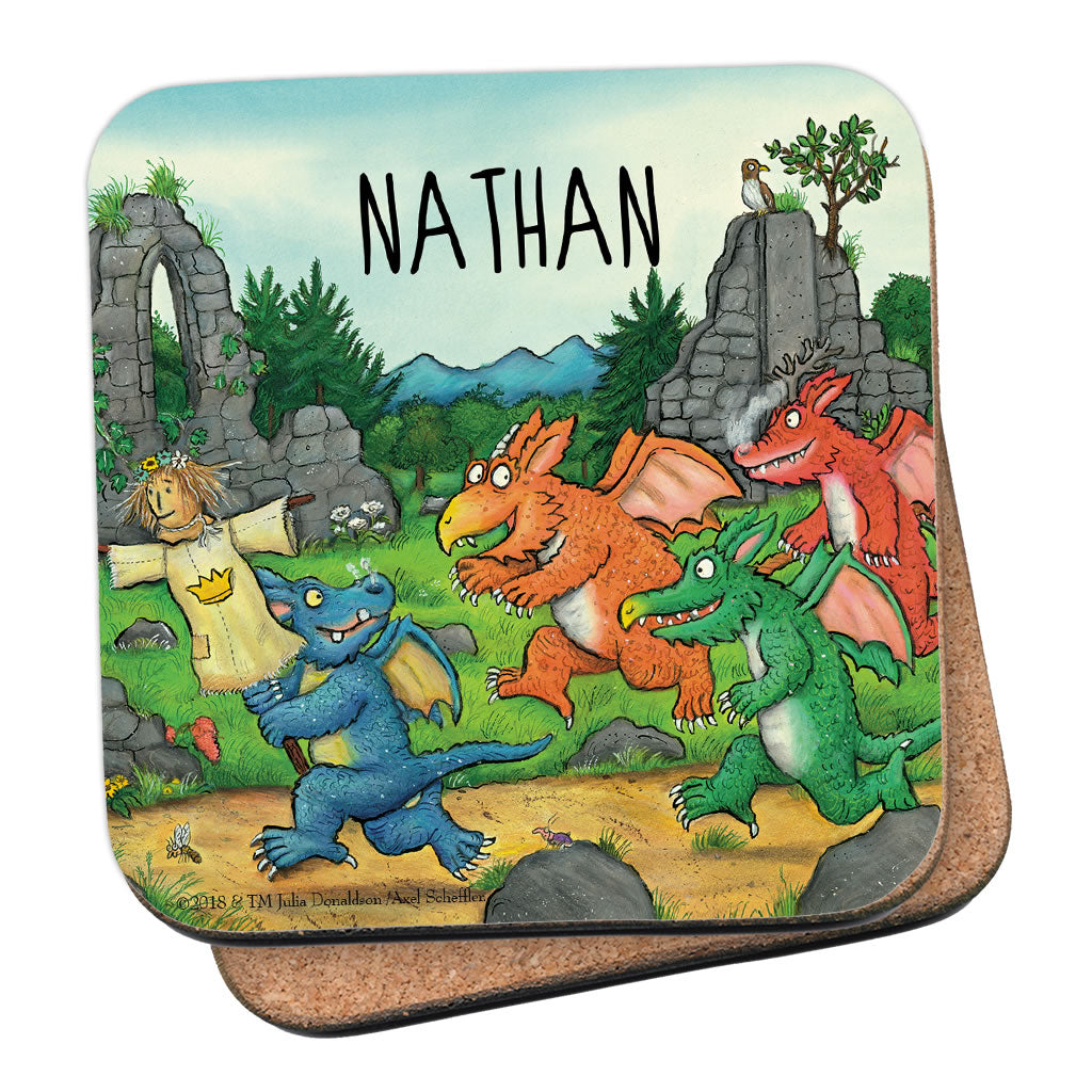 Zog and Friends Zog Personalised Coaster