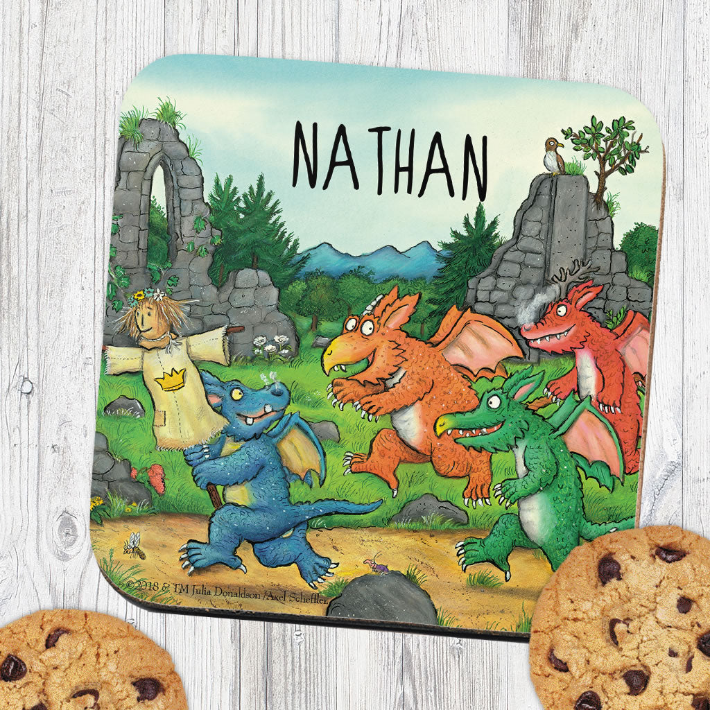 Zog and Friends Zog Personalised Coaster (Lifestyle)