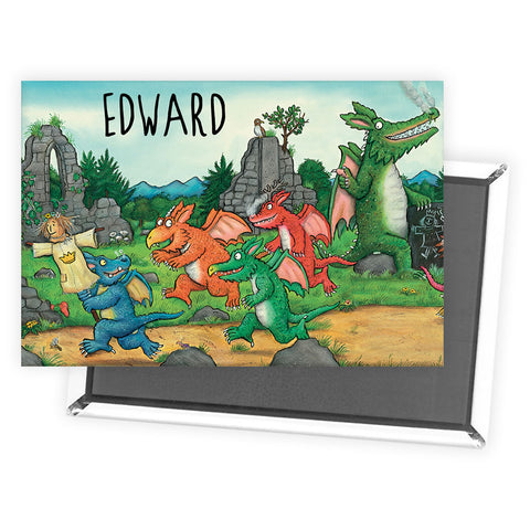 Zog and Friends Zog Personalised Magnet