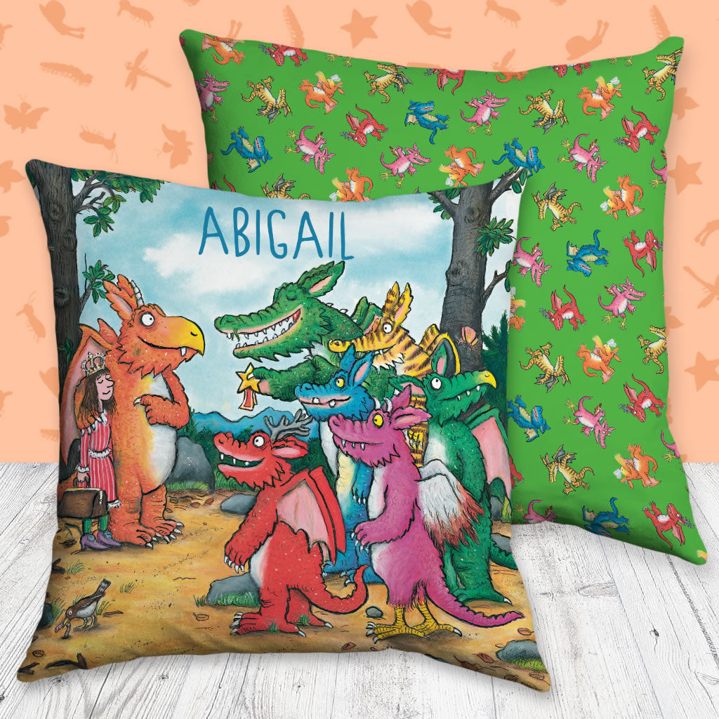 Zog and Friends Zog Personalised Cushion (Lifestyle)