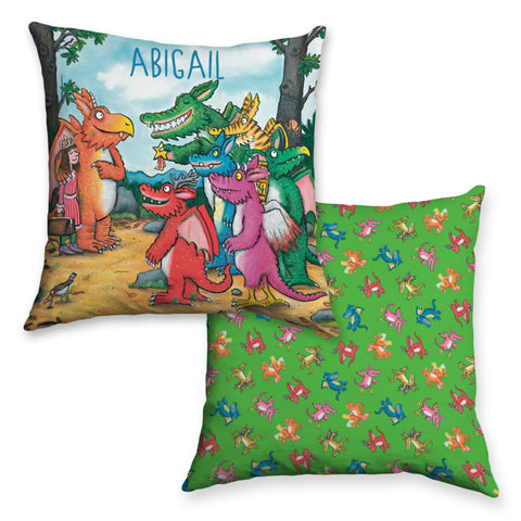 Zog and Friends Zog Personalised Cushion