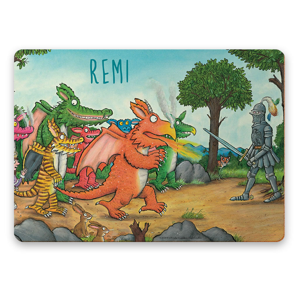 """Bravo"" Zog Personalised Placemat"