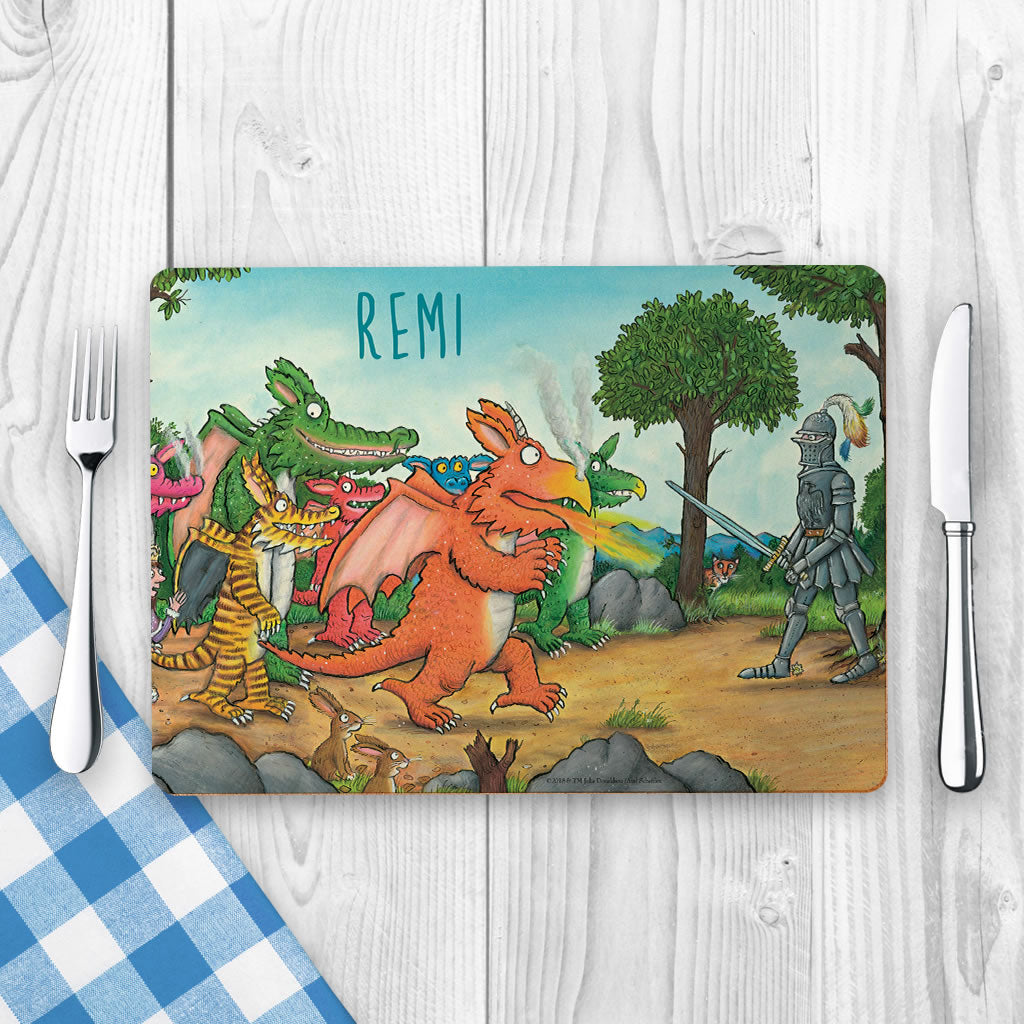 """Way up in the sky"" Zog Personalised Placemat (Lifestyle)"