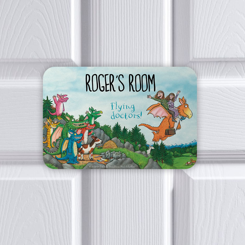 Flying Doctors! Zog Personalised Door Plaque (Lifestyle)
