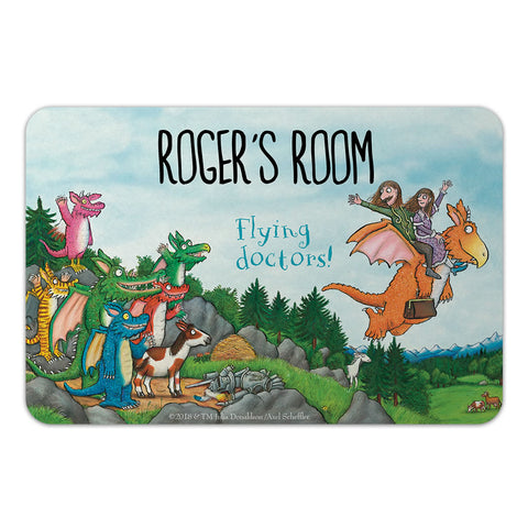 Flying Doctors! Zog Personalised Door Plaque