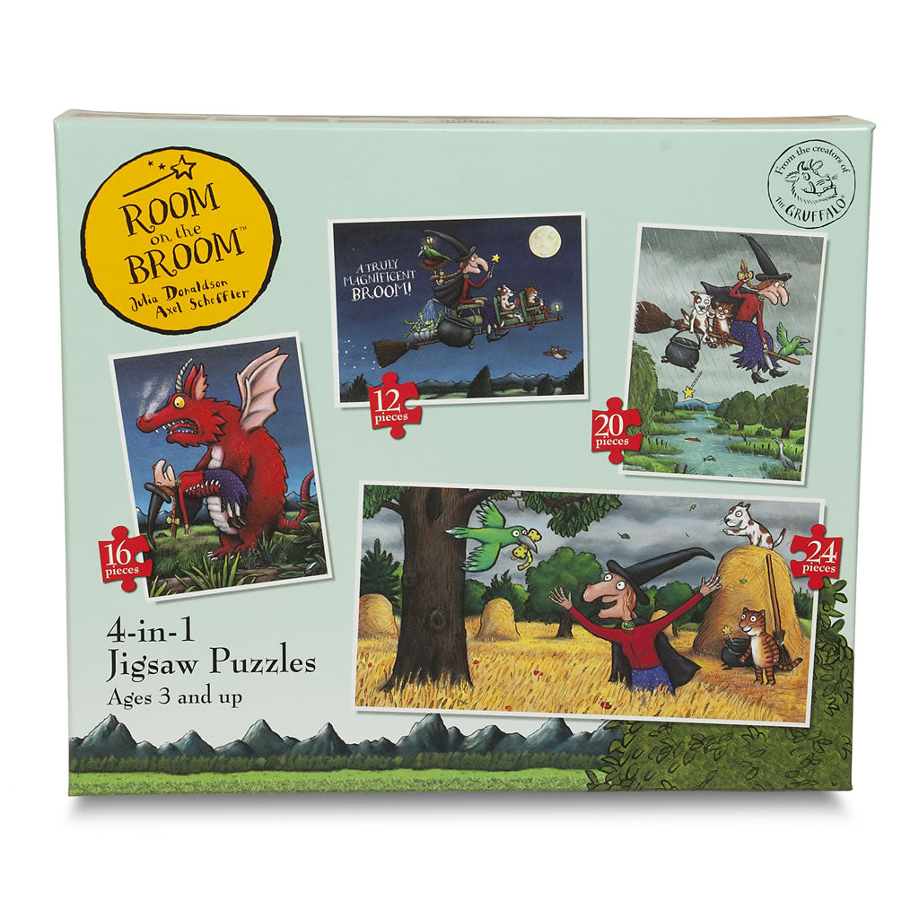 Room On The Broom 4-in-1 Jigsaw puzzle