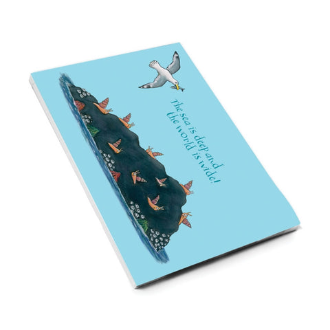 The sea is deep and the world is wide! A5 Notepad