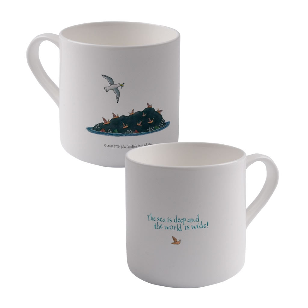 The sea is deep and the world is wide! Large Bone China Mug