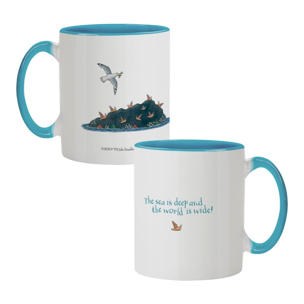 The sea is deep and the world is wide! Coloured Insert Mug