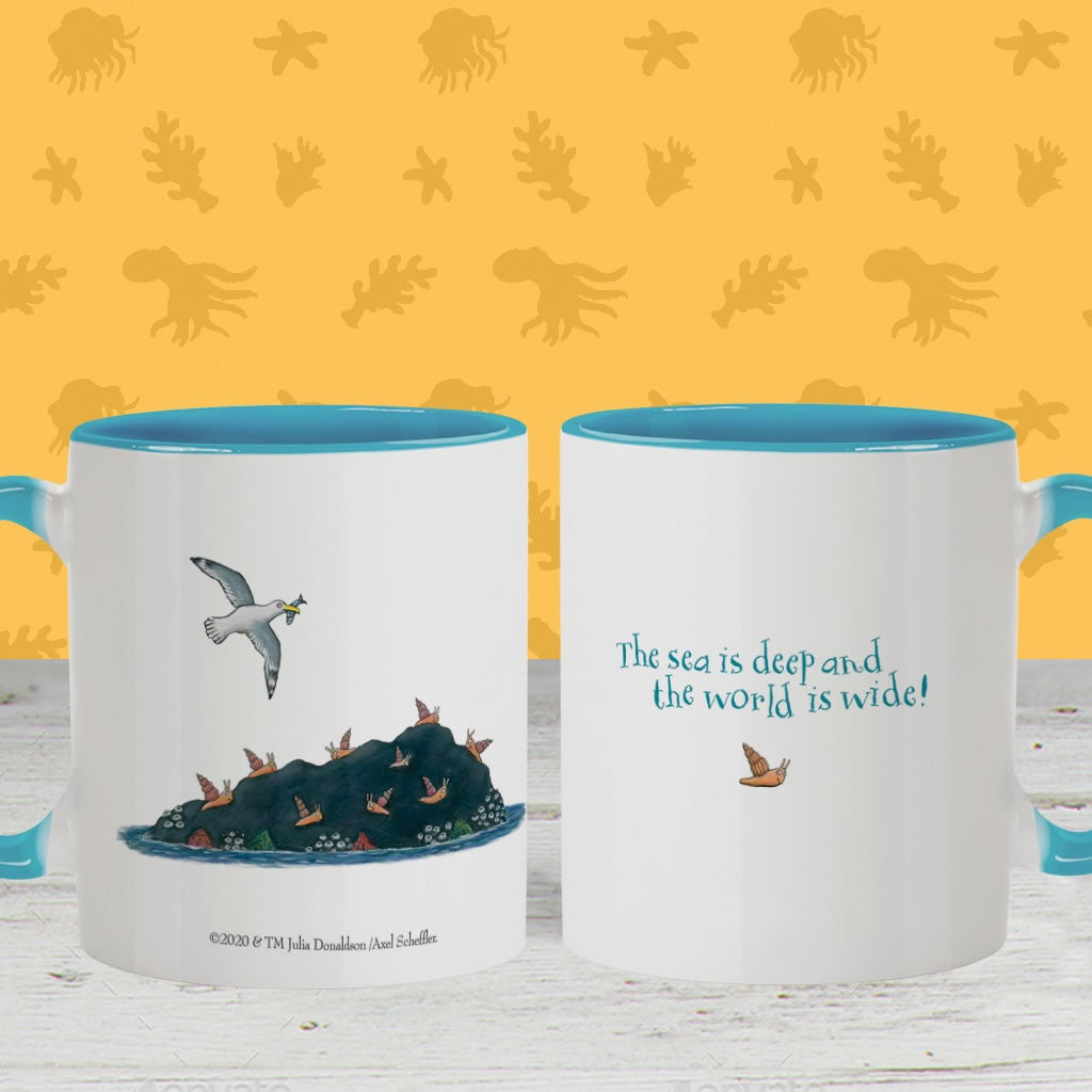 The sea is deep and the world is wide! Coloured Insert Mug 2
