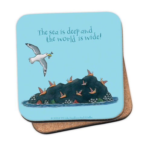 The sea is deep and the world is wide! Coaster