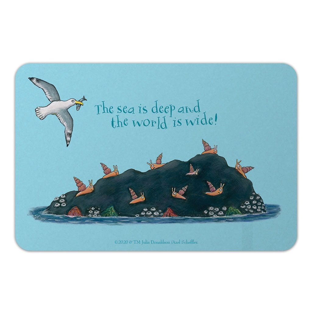 The sea is deep and the world is wide! Door Plaque