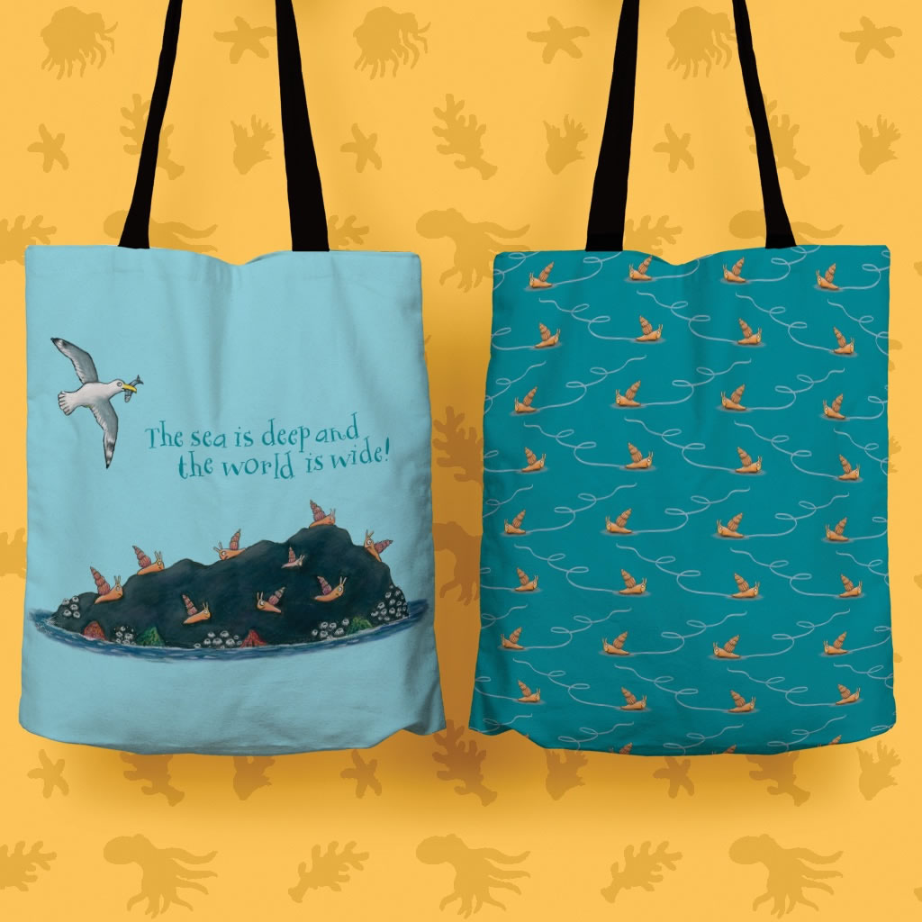 The sea is deep and the world is wide! Edge to Edge Tote Bag 2