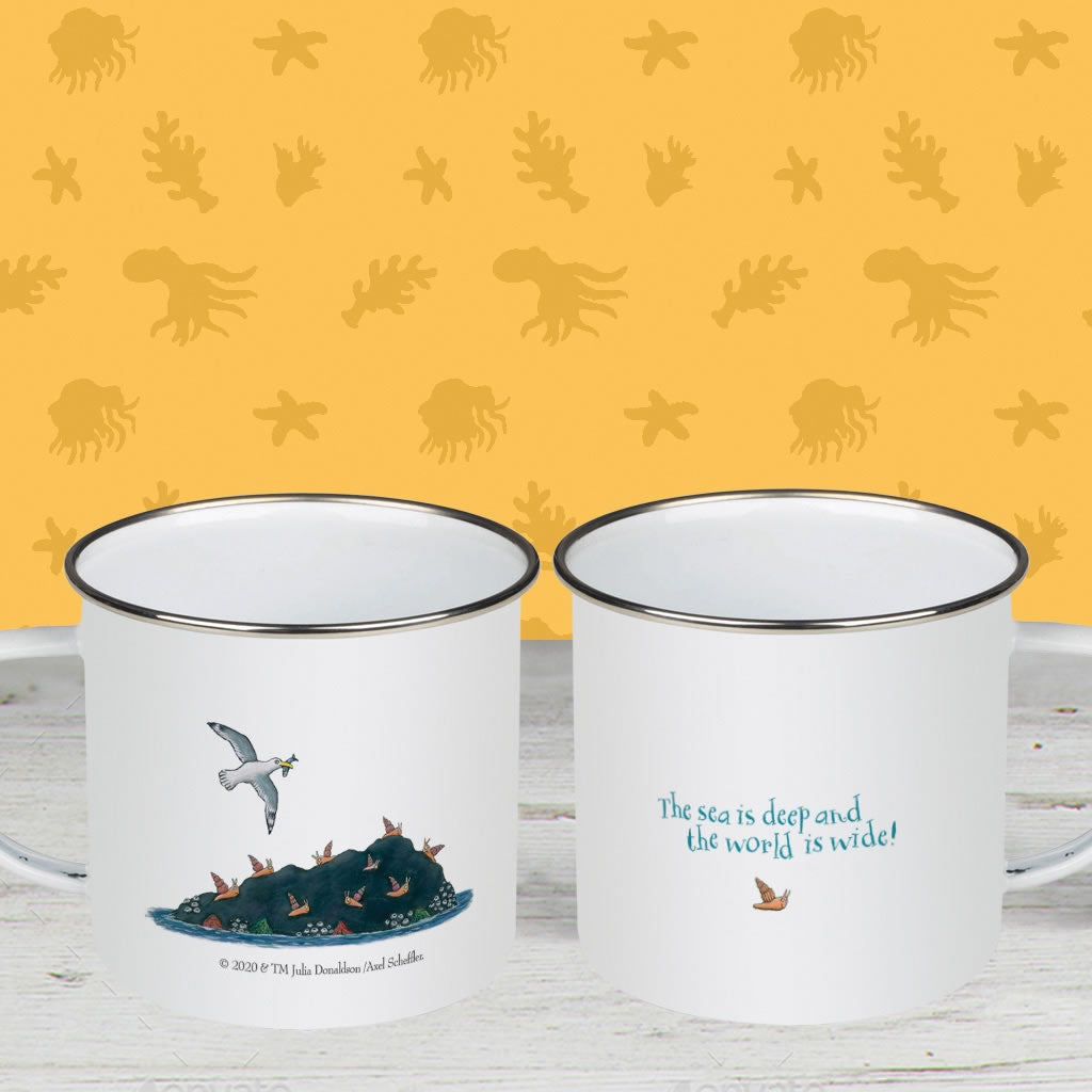 The sea is deep and the world is wide! Enamel Mug 2