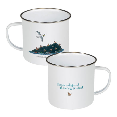 The sea is deep and the world is wide! Enamel Mug