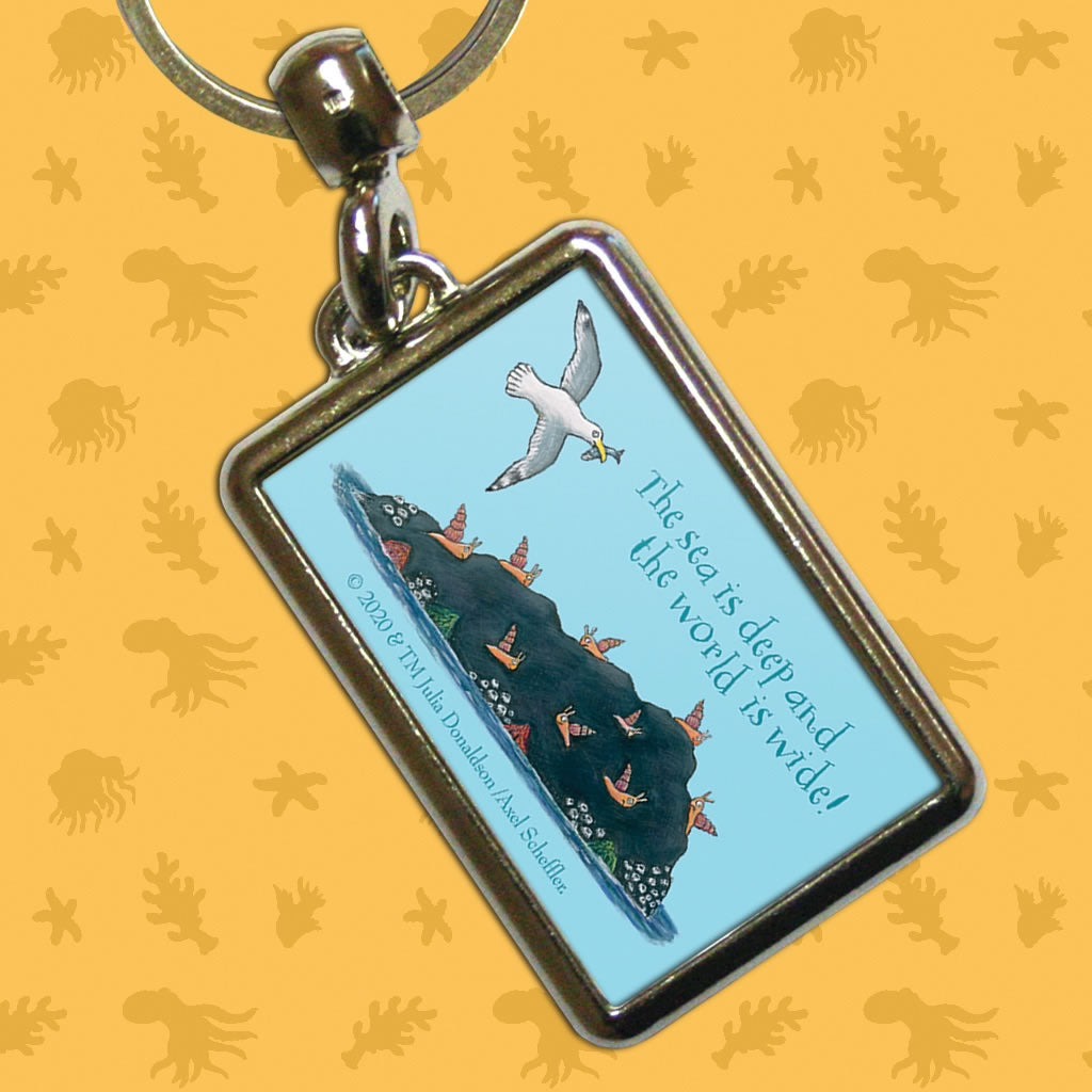 The sea is deep and the world is wide! Metal Keyring 2