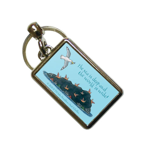 The sea is deep and the world is wide! Metal Keyring