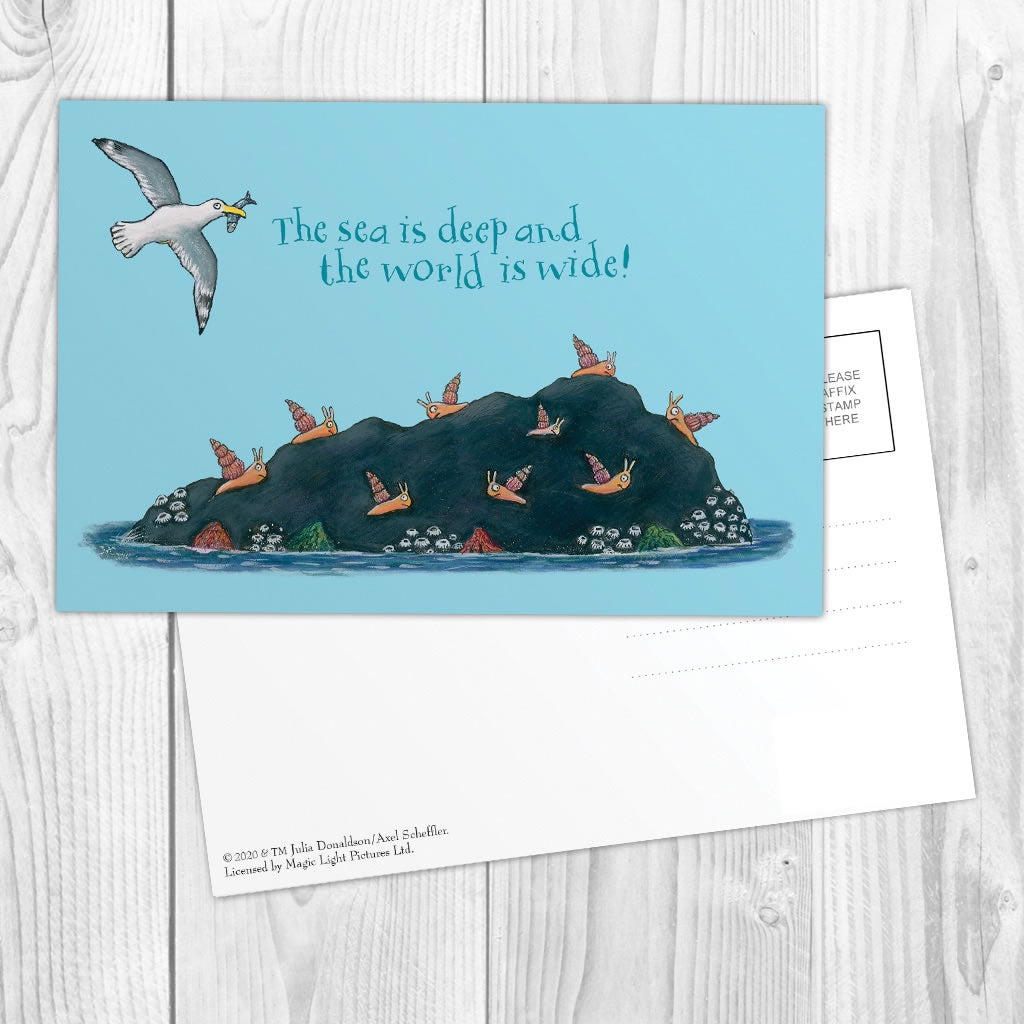 The sea is deep and the world is wide! Postcard 2