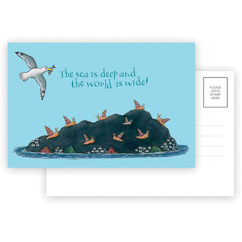 The sea is deep and the world is wide! Postcard
