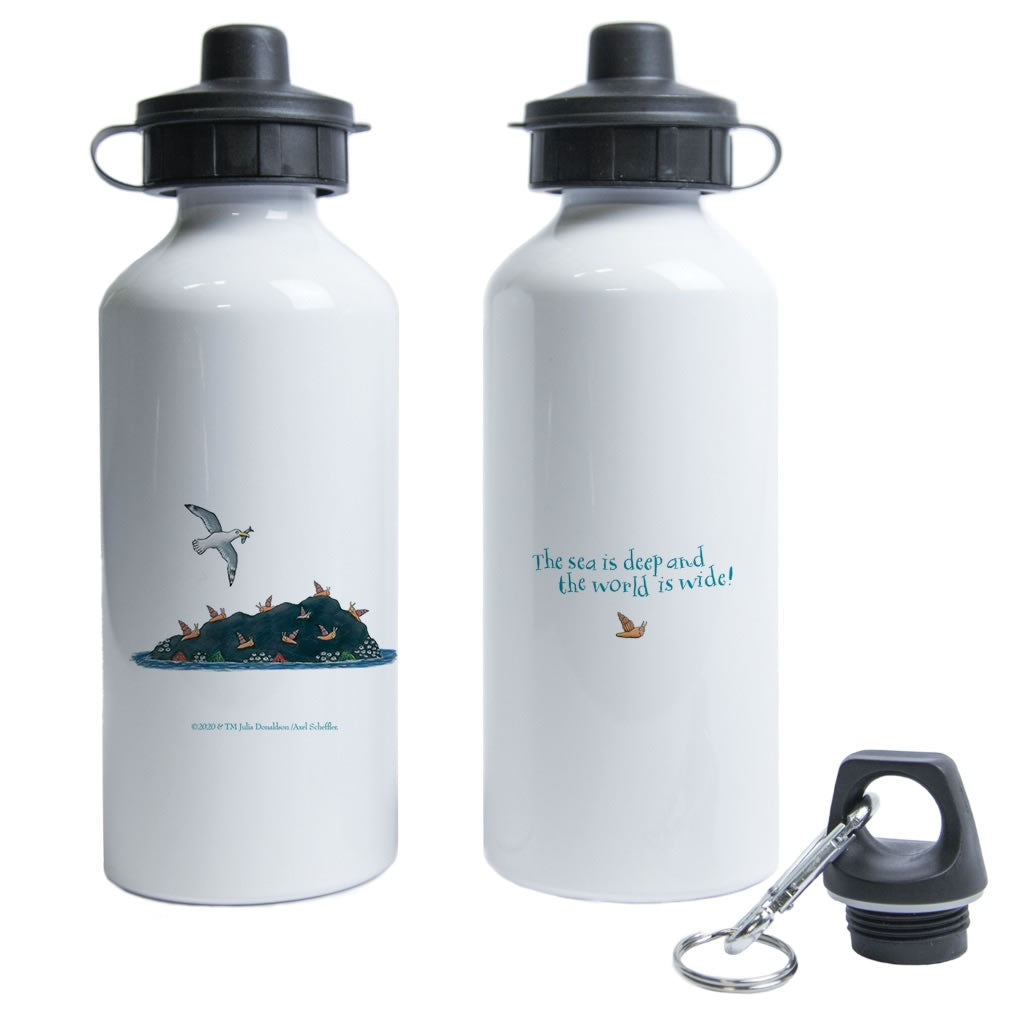 The sea is deep and the world is wide! Water Bottle