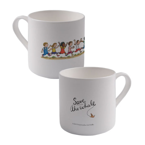 Save the whale! Large Bone China Mug
