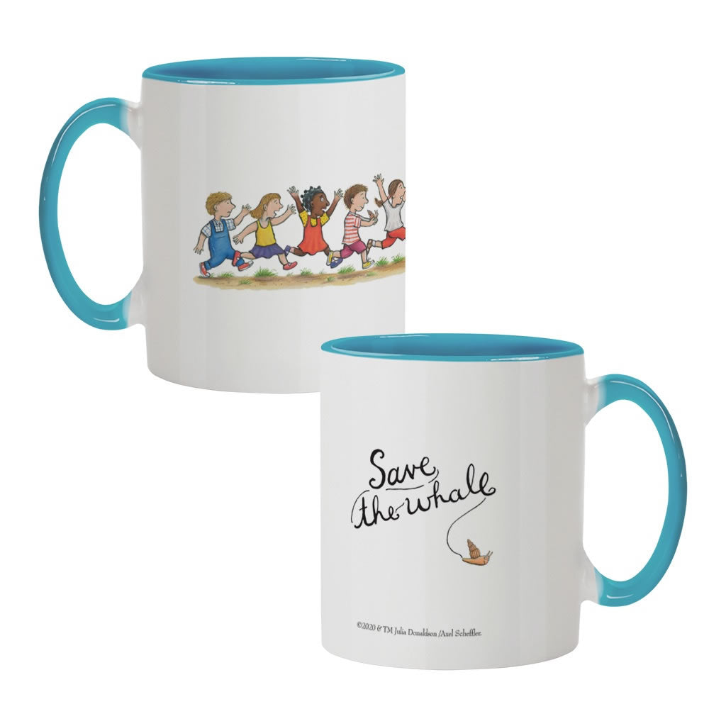 Save the whale! Coloured Insert Mug