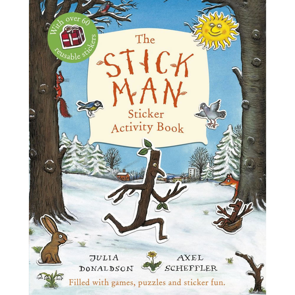 Stick Man Sticker Book Book