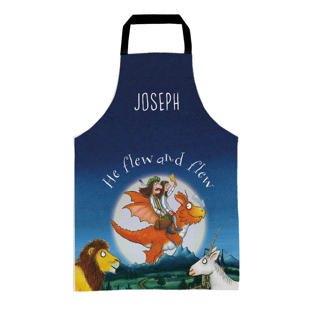 Zog & The Flying Doctors 'He flew and flew' Personalised Apron