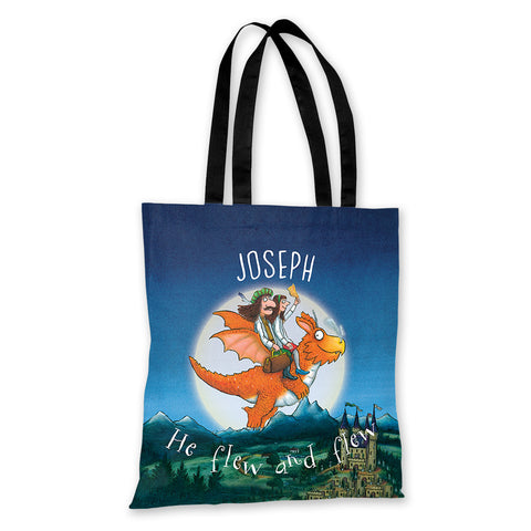 Zog & the Flying Doctors 'He flew and flew' Personalised Edge to Edge Tote Bag