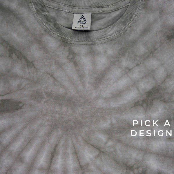 Tie Dye Tee GREY (plain or embroidery of choice)