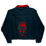 African Mask D1 Denim Jacket